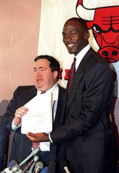Krause y Michael Jordan.