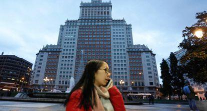 El Edificio España en el centro de Madrid.