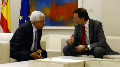 Mahmud Abbas y Mariano Rajoy, en La Moncloa.