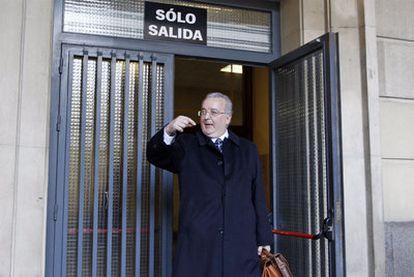 Antonio Fernández, tras declarar en los juzgados de Sevilla el pasado 31 de enero.