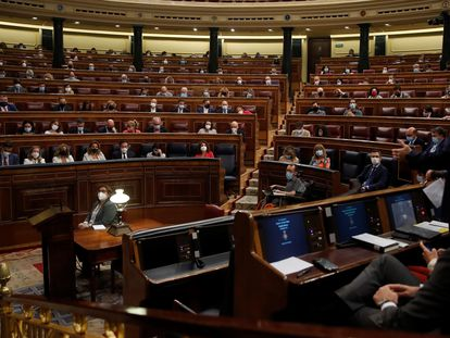 Intervención de Teodoro García Egea en el Congreso de los Diputados.