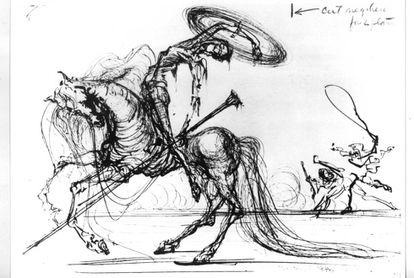 Don Quijote.  de Salvador Dalí.