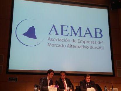 Presentación de la Aemab en la Bolsa de Madrid.