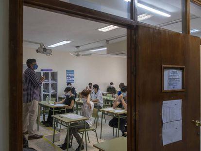 Una clase de un colegio de Sevilla, el pasado mayo.