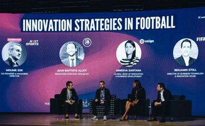 Imagen del trascurso del 'Football Innovation Forum' celebrado en Madrid.
