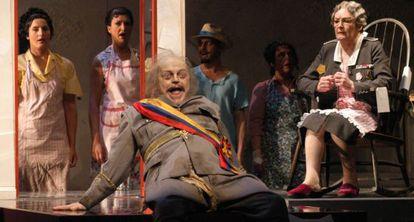 Una escena de 'El otoño del patriarca', ópera basada en la novela Gabriel García Márquez.