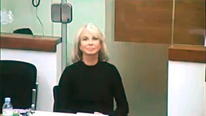 Corinna Larsen, testified by videoconference before the judge last January in a case against Commissioner Villarejo, denounced for slander by the former director of the CNI Félix Sanz Roldán.