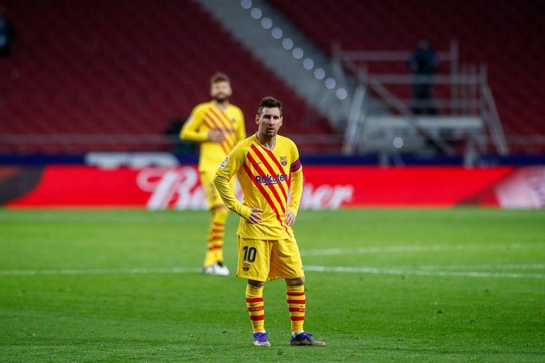 Leo Messi, durante el partido de LaLiga ante el Atlético de Madrid.