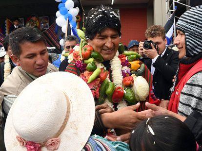 El presidente boliviano, Evo Morales, el lunes en Cochabamba (Bolivia).