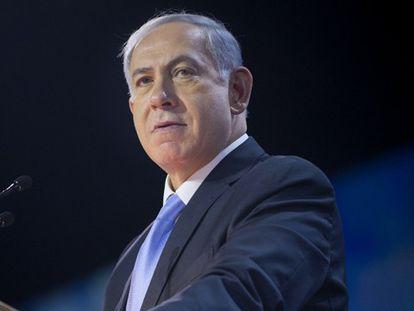 Netanyahu ante el Comité de Asuntos Americanos e Israelíes.