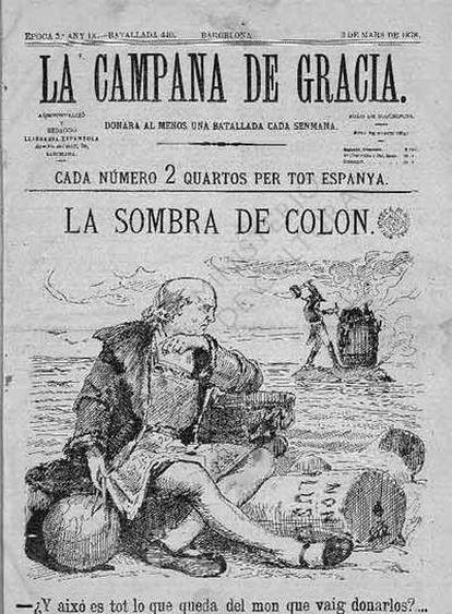 Ejemplar de <i>La Campana de Gracia</i> de 1878.