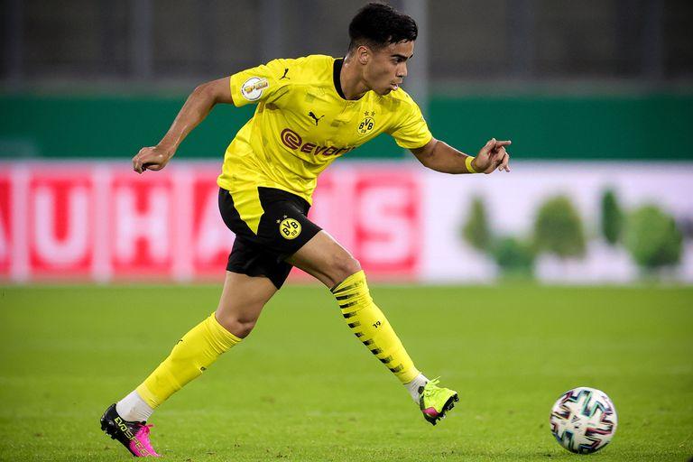 Reinier, con el Dortmund hace una semana en un partido de Copa.