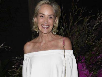 Sharon Stone, en una gala sobre salud mental femenina en Los Ángeles (California) el 17 de julio.