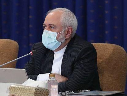 El ministro iraní de Exteriores, Mohammad Javad Zarif, durante la reunión del Gobierno del pasado lunes.