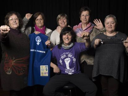 Mujeres de tres mancomunidades del norte de Cáceres que se unen a la huelga feminista de este 8 de marzo.