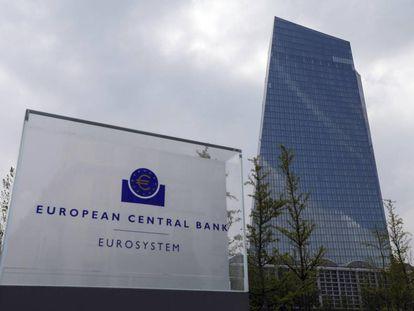 La sede del Banco Central Europeo en Fráncfort.