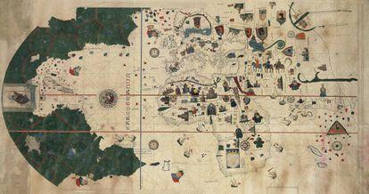 Mapa del siglo XVI de Juan de la Cosa.