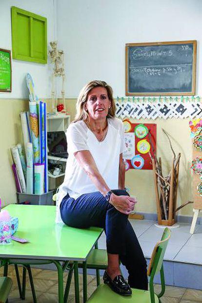 Manuela Lara, de Santillana Global, fotografiada en el colegio madrileño Blanca de Castilla.