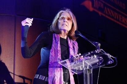 La escritora Gloria Steinem durante la entrega de premios del Festival de Cine de Athena 2020, Nueva York.