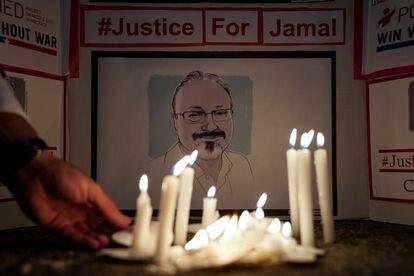 Una vigilia en Washington en memoria del periodista asesinado Jamal Khashoggi, el pasado 2 de octubre de 2019, al cumplirse un año de la muerte.