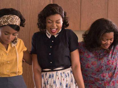 Las actrices que encarnan a las tres científicas de la película 'Figuras ocultas'