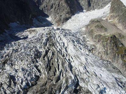 El glaciar Planpincieux en una imagen distribuida el 20 de septiembre por el Ayuntamiento de Courmayeur (Italia).