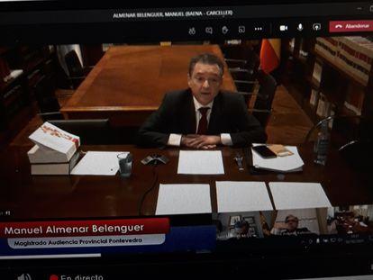 El magistrado Manuel Almenar, este lunes, durante su comparecencia como aspirante a una plaza de magistrado del Tribunal Supremo.  02/02/2021