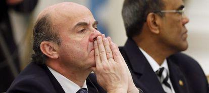 El ministro de Economía, Luis de Guindos, el viernes en Moscú.