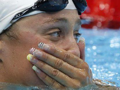 La nadadora Mireia Belmonte y su espectacular manicura.