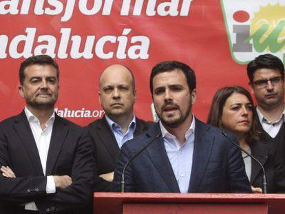 De izquierda a derecha, Maíllo, Karagkounis, Garzón y Cortés, en Córdoba.