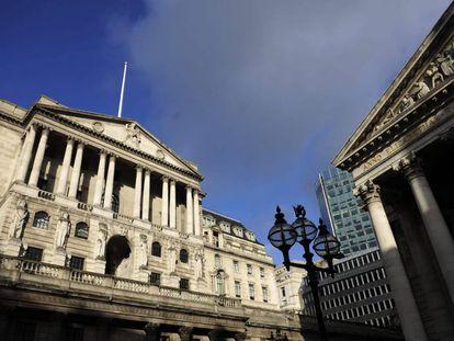 En la imagen, la fachada del Banco de Inglaterra en Londres, Reino Unido