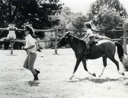 Jacqueline Kennedy, con sus hijos.