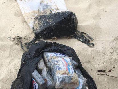 Fajos que se han encontrado este jueves en la playa de Formentera.