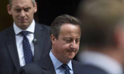 El primer ministro Cameron este miércoles en Londres.
