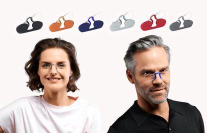 Este modelo de gafas sin patillas es unisex y se puede encontrar en seis colores.