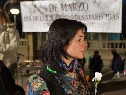 Ruth Ortiz, madre de los niños desaparecidos en Córdoba, en el acto de homenaje organizado por InterSOS
