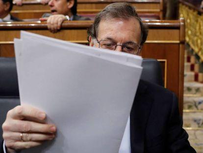 Mariano Rajoy, en el Congreso, el miércoles.