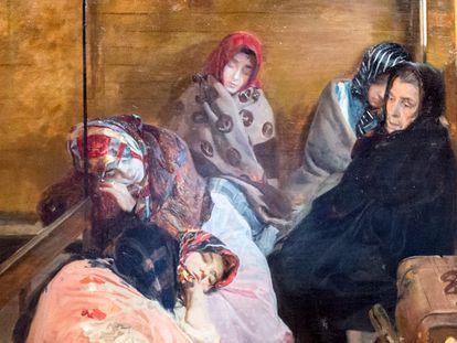 El cuadro 'Trata de blancas' (1895), en el que Sorolla muestra un grupo de mujeres prostituidas.