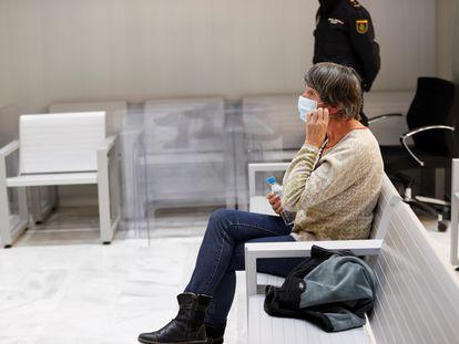 Soledad Iparragirre, Anboto, este miércoles en la Audiencia Nacional.