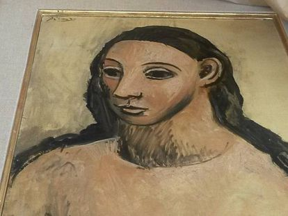 Imagen del cuadro de Pablo Picasso cabeza de mujer joven, el lienzo por el que Jaime Botín ha sido hayado culpable de contrabando.