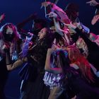 Olivia Rodrigo, during her performance at the MTV awards gala, this Sunday in New York.