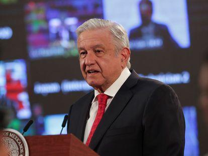 El presidente de México, Andrés Manuel López Obrador, durante la Cumbre de Líderes sobre el Clima.
