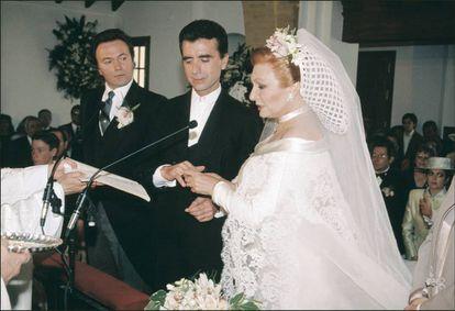 La boda de Rocío Jurado y José Ortega Cano