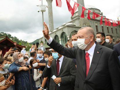 Recep Tayyip Erdogan, este sábado en la localidad turca de Rize.
