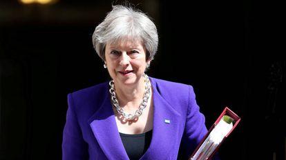 La primera ministra británica, Theresa May, el pasado miércoles en Londres.