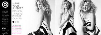 """Kylie Minogue sufrió cáncer de pecho en 2005 y desde entonces colabora siempre que puede en campañas para prevenir la enfermedad. Esta vez lo ha hecho junto a la supermodelo Claudia Schiffer y a la actriz Sienna Miller. Las tres son imagen de Fashion Targets Breast Cancer, que busca fondos para la investigación y el tratamiento de esta enfermedad. """"Todo lo que me pasó contribuyó a convertirme en una persona más madura"""", ha dicho la cantante."""