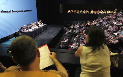 La asamblea de las sociedades musicales, reunida en Valencia.