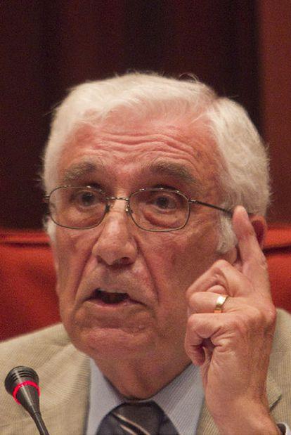 Daniel Osàcar en su comparecencia en el Parlament.