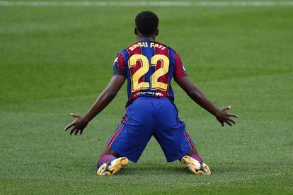 Ansu Fati, durante un partido de la Liga en noviembre del pasado año.