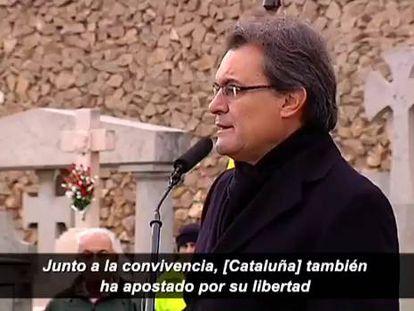 """Mas replica a don Juan Carlos que Cataluña """"apuesta por su libertad"""""""